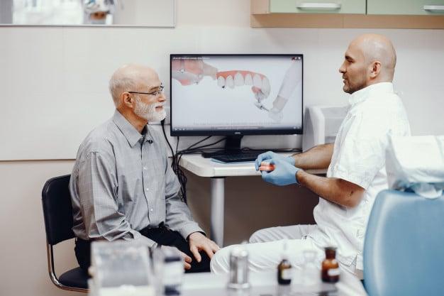 Dental Implants for old man